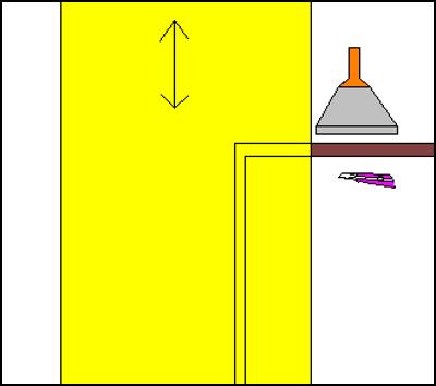 窓枠付近の貼り方