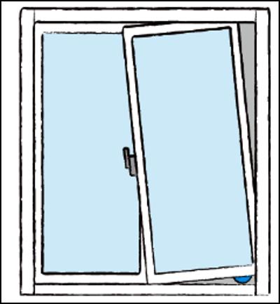 サッシ窓の傾きを直す方法