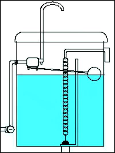 水栓トイレの水が流れる仕組み④