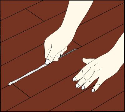 フローリング床の補修