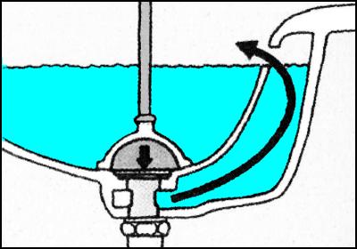 オーバーフロー用の排水口