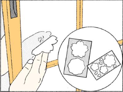 穴が開いた障子を補修する方法