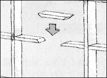 桟の折れ方が複雑な場合