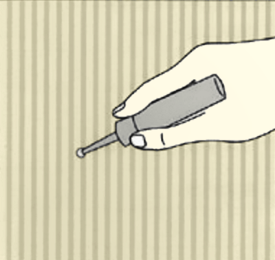 壁紙の小さな穴専用の補修剤