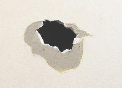 大きな穴の補修