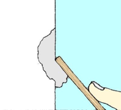 壁の穴補修方法