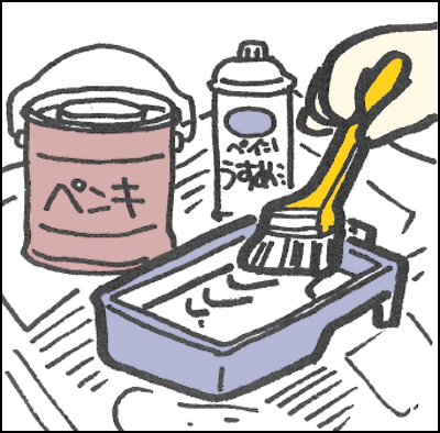 塗料を調整